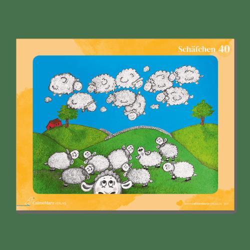 """Vorderansicht Puzzle 40 Teile für Kinder """"Schäfchenwolken"""""""