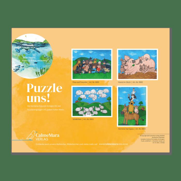 """Puzzle 40 Teile """"Elsa und ihre Freunde"""""""