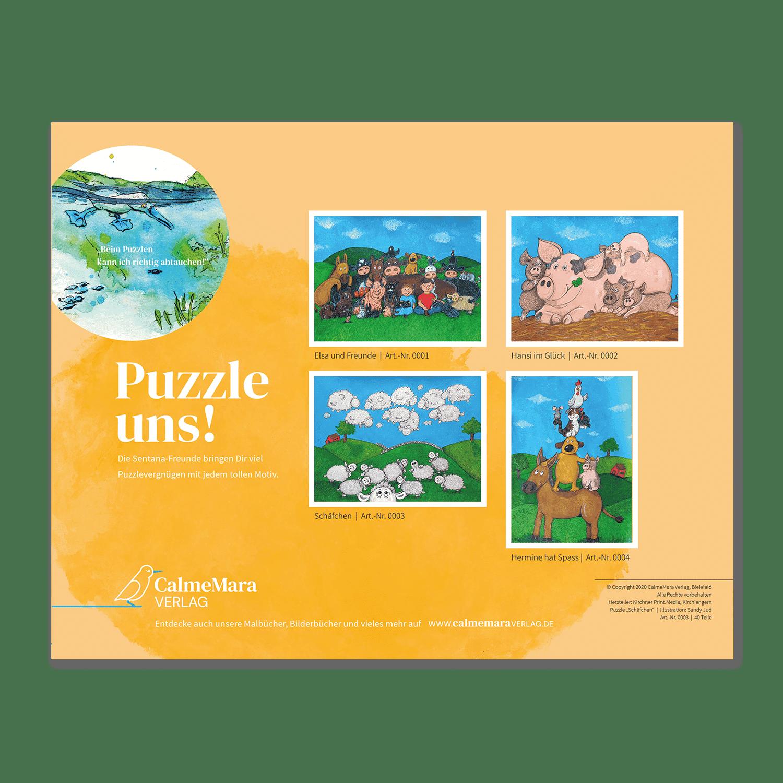 Rückseite Puzzle 40 Teile Puzzle für Kinder