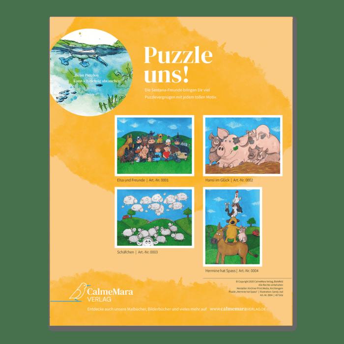 Puzzle für Kinder Rückseite