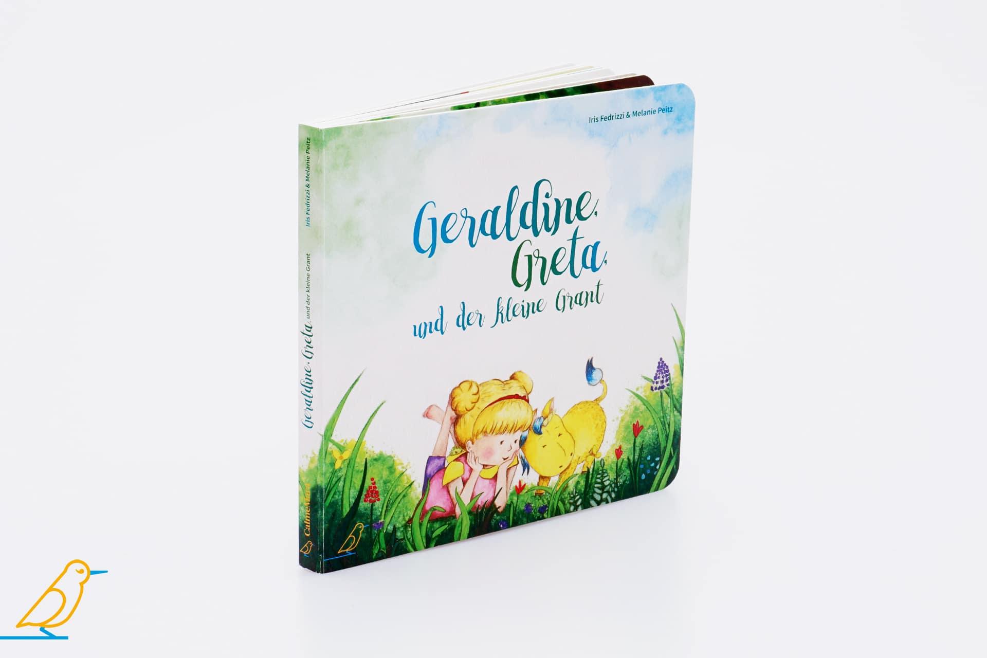 Geraldine, Greta und der kleine Grant Seitenansicht