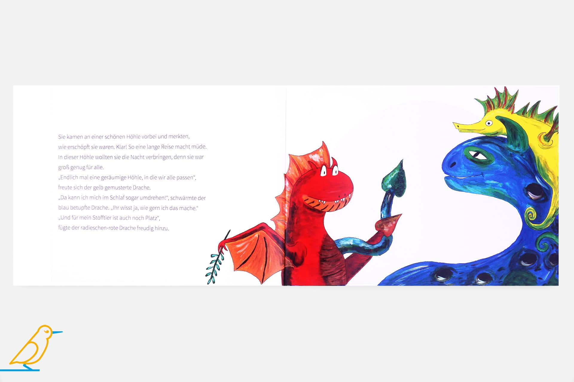 Blick ins Buch »Drei kunterbunte Drachen«