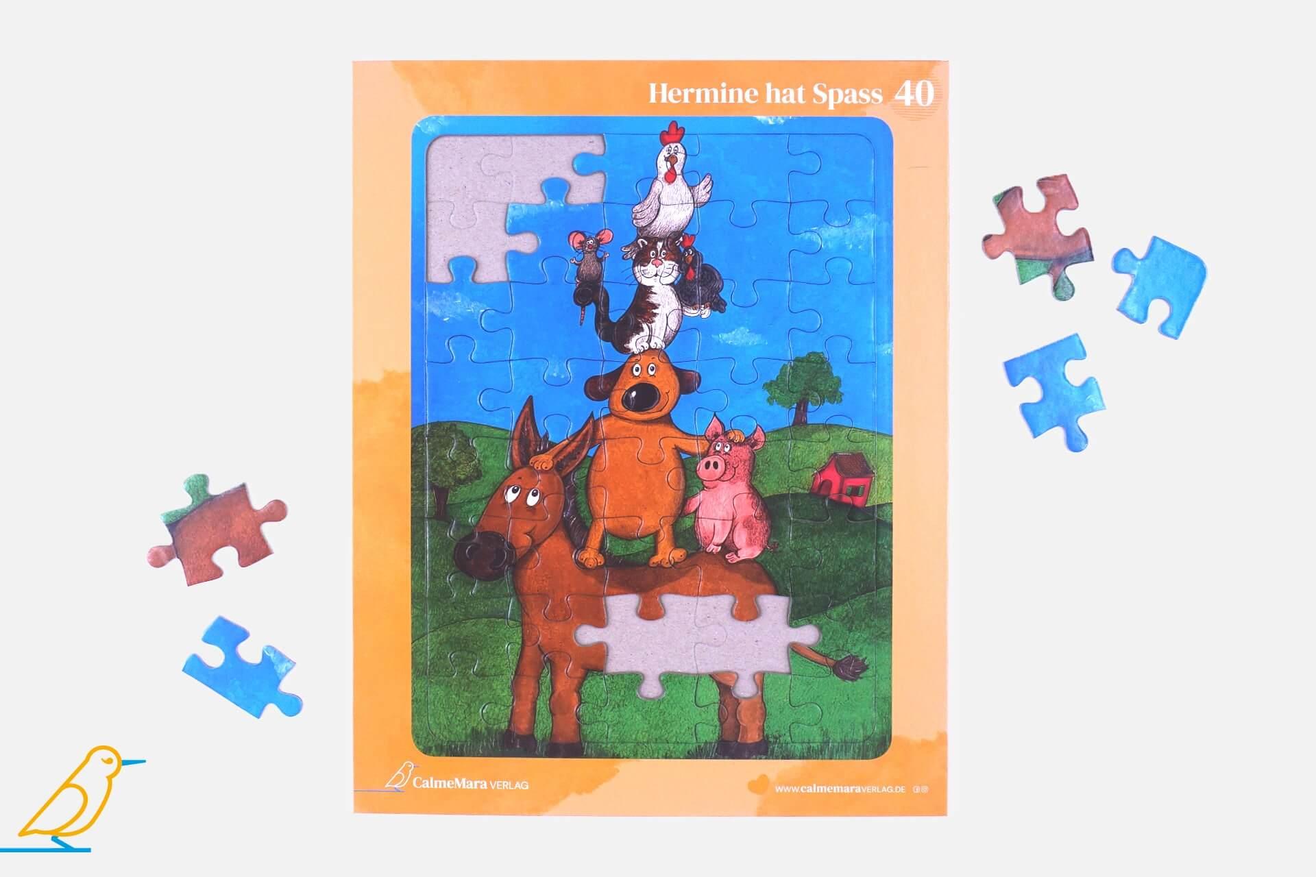 """Puzzle """"Hermine hat Spaß"""" für Kinder 40 Teile"""
