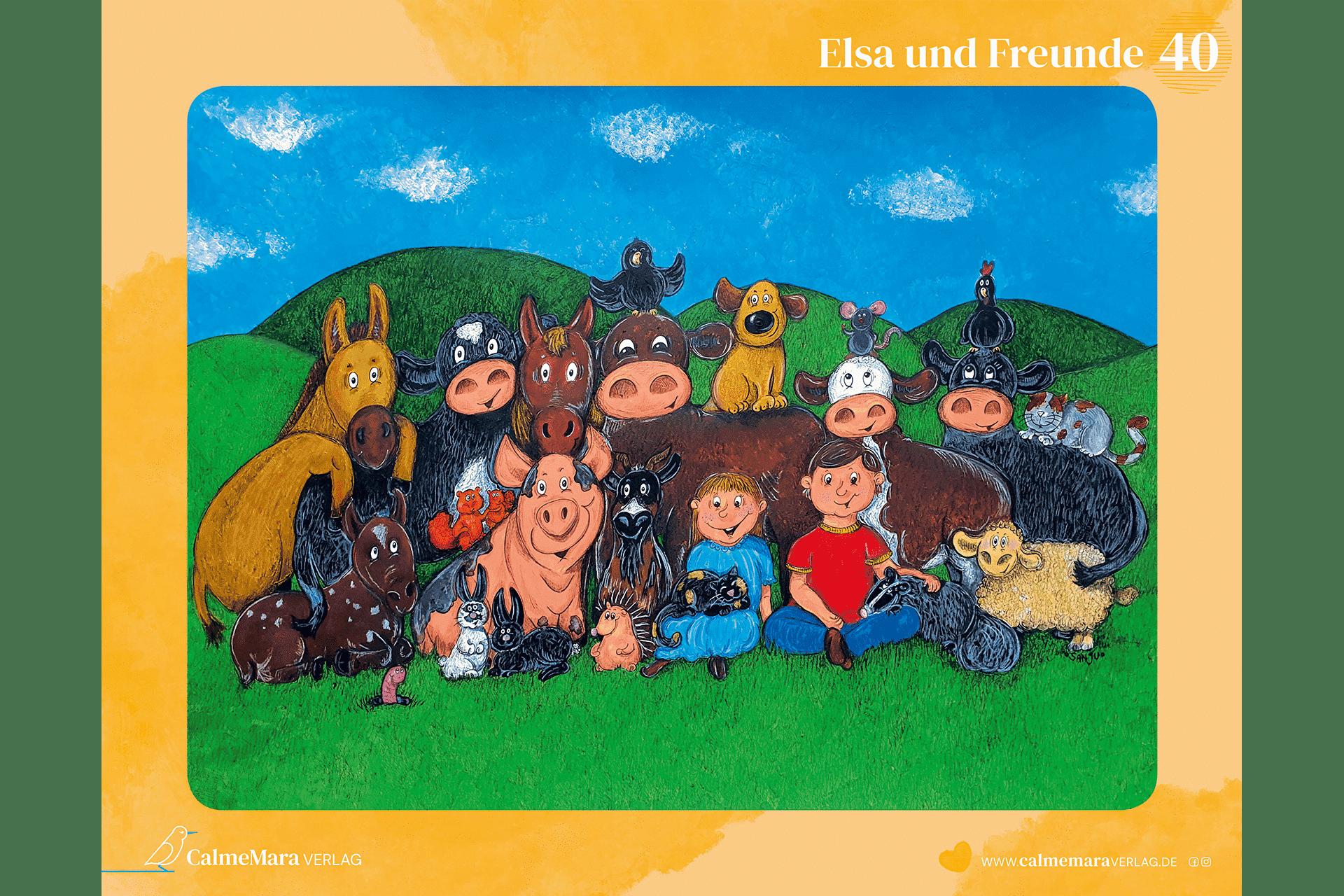 Tier-Puzzle Elsa und ihre Freunde