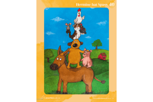 Puzzle Esel Hermine hat Spaß