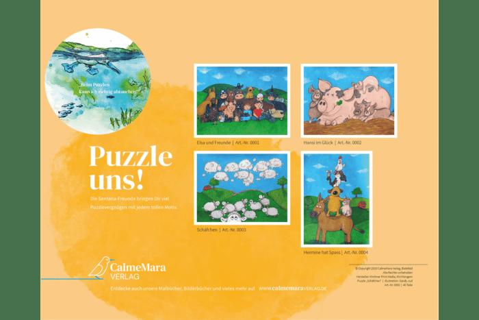 Puzzle-Übersicht aus dem Dorf Sentana