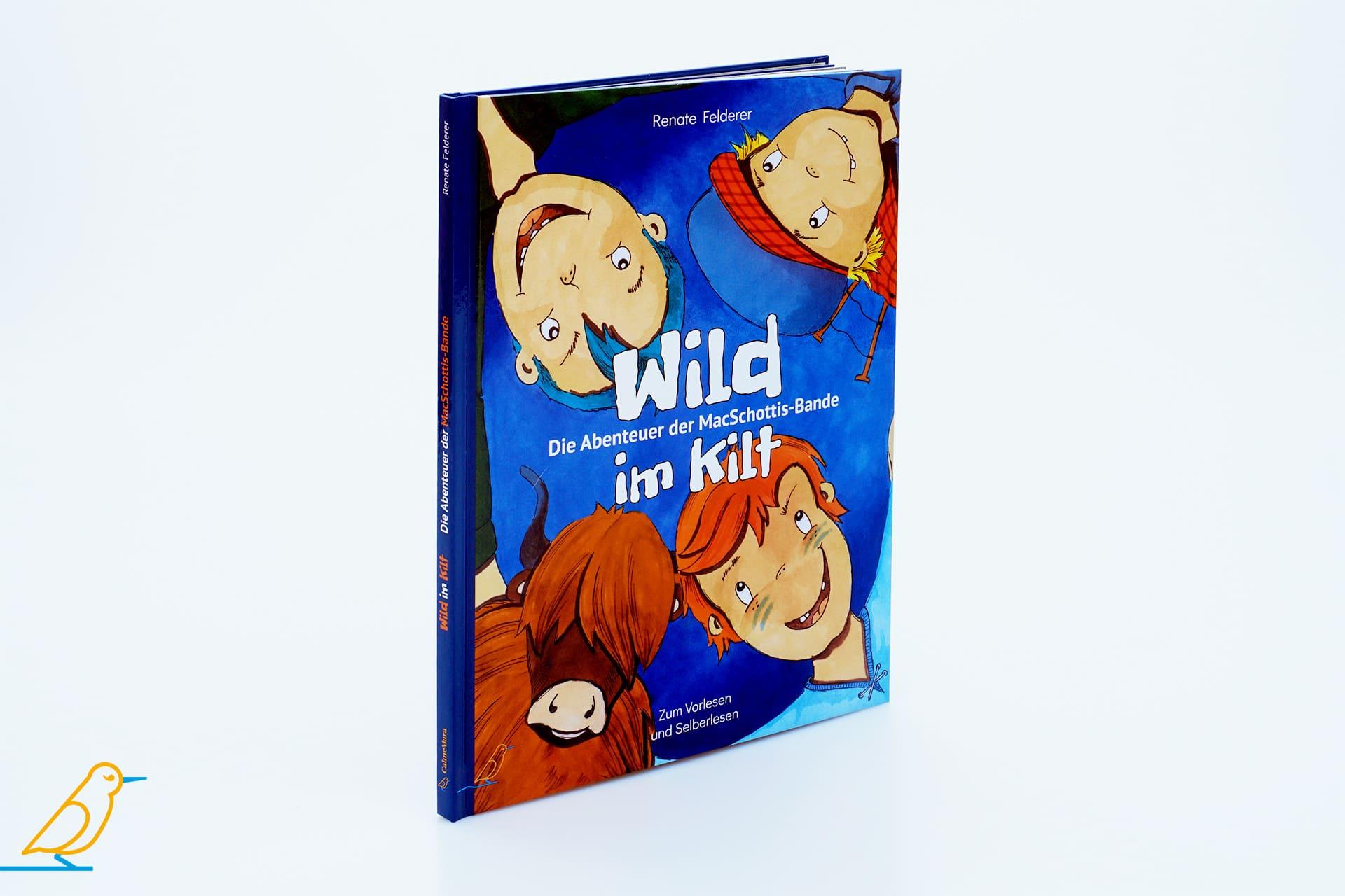 """Kinderbuch """"Wild im Kilt"""" 3D-Ansicht"""