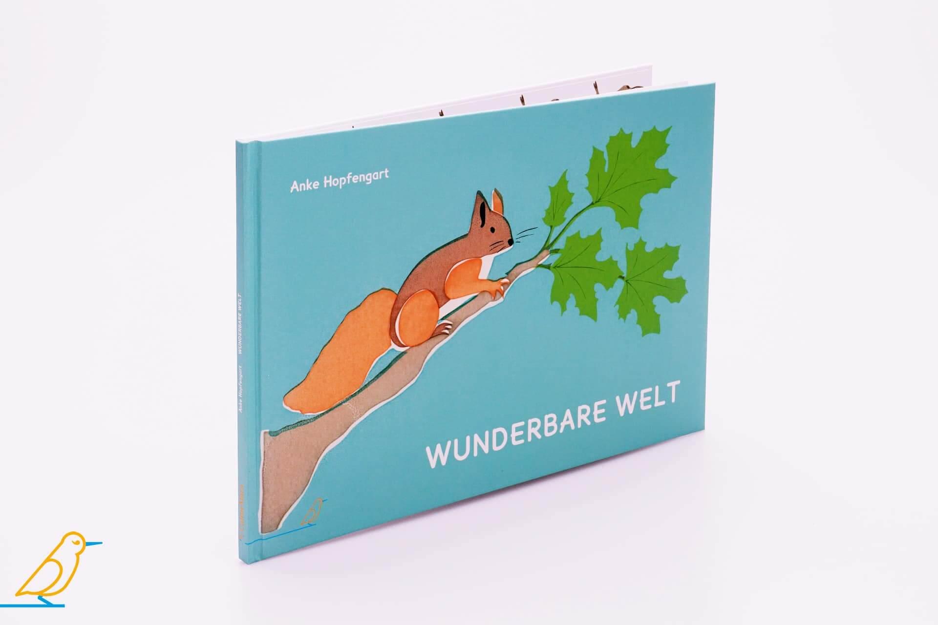"""Produktansicht Bilderbuch """"Wunderbare Welt"""" von Anke Hopfengart"""