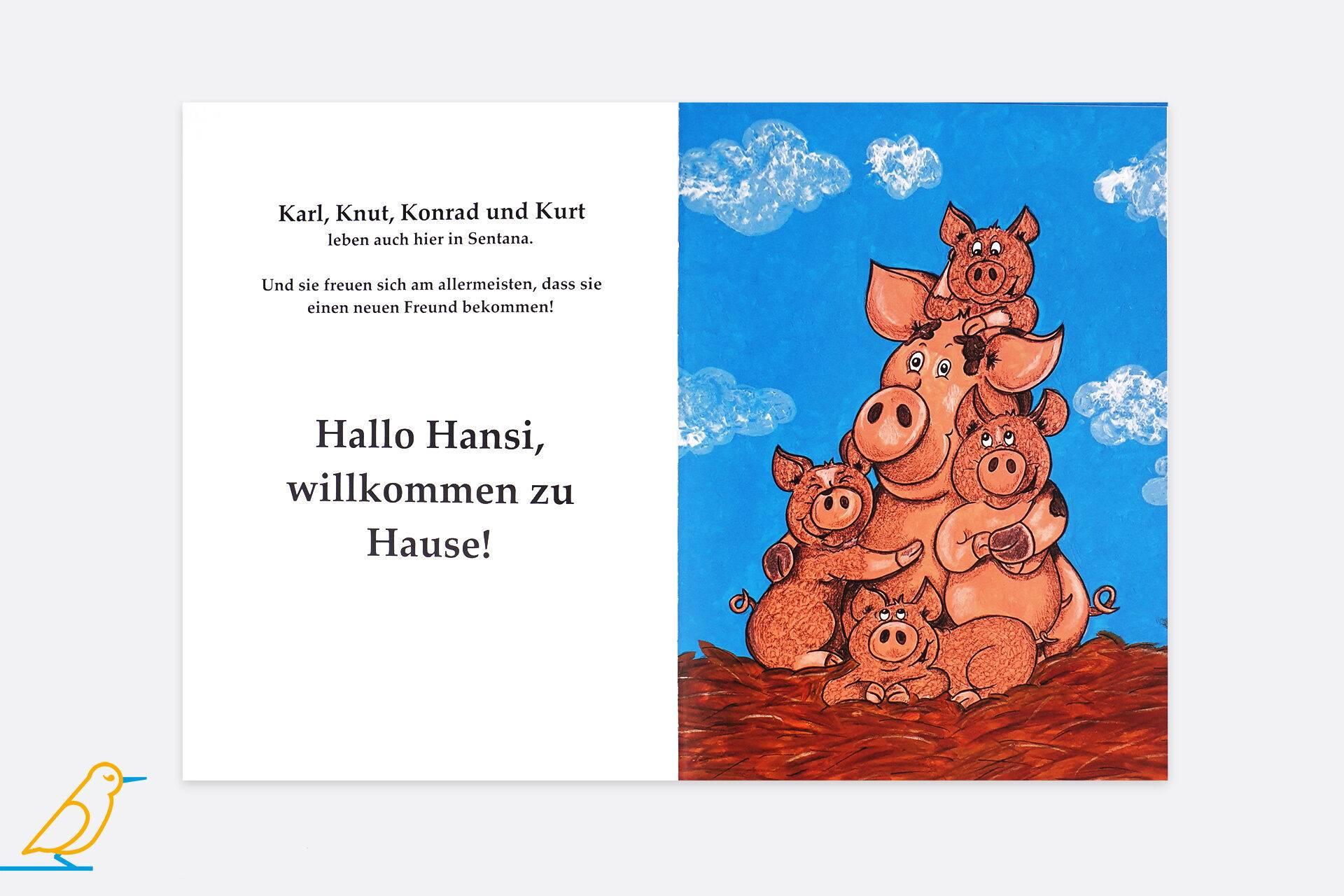 """Blick ins Buch """"Hansi im Glück"""" von Sandy Jud"""