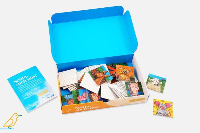 Gedächtnisspiel Senta, such uns! Blick in die Packung