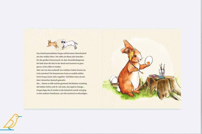 """Innenansicht Bilderbuch """"Das Ei mit dem Knacks"""" von Iris Fedrizzi und Linda Mieleck"""