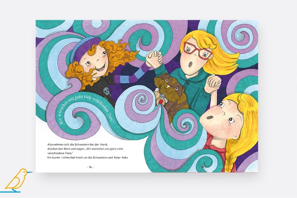 """Blick ins Kinderbuch """"Die Wunsch-Schwestern"""""""