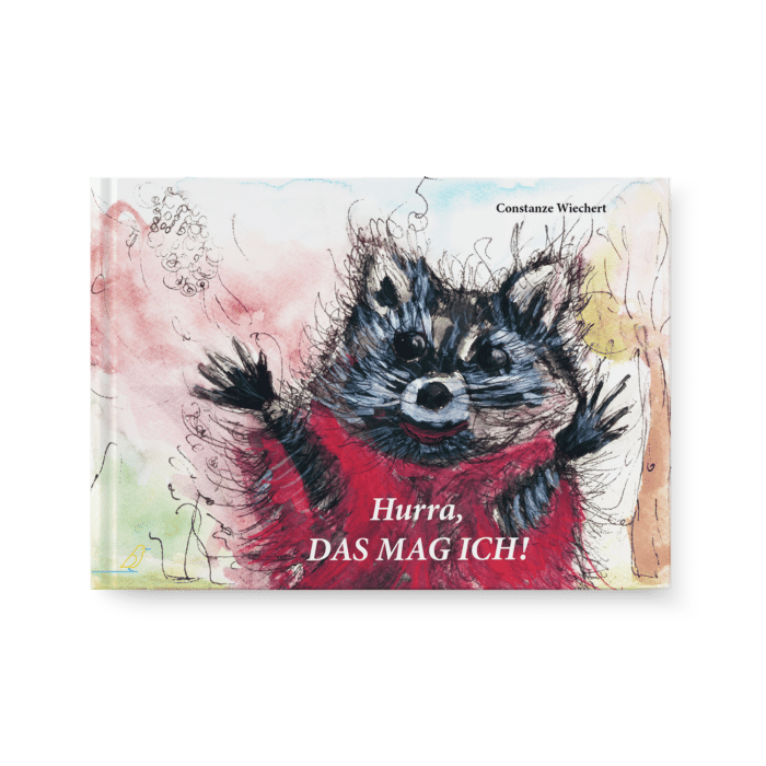 Kinderbuch Cover - Hurra, das mag ich! - Waschbär in Pullover