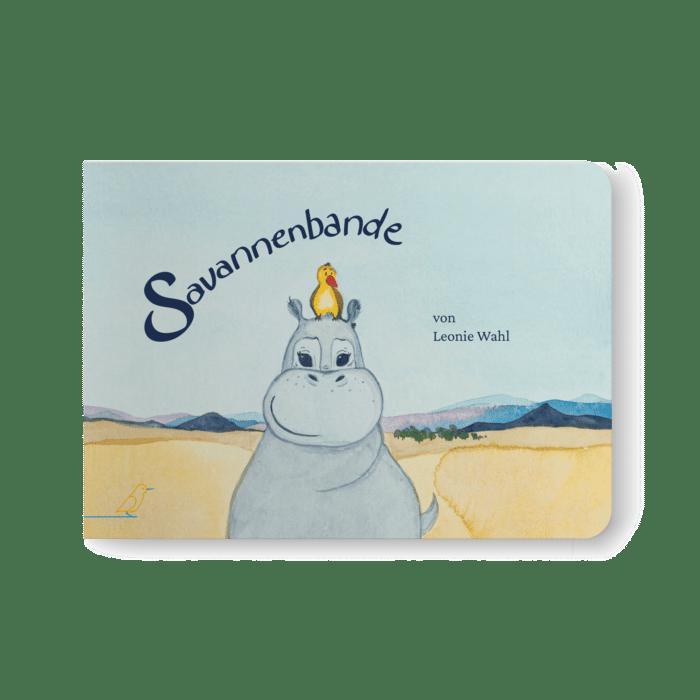 Cover - Savannenbande - Nilpferd mit Vogel auf dem Kopf